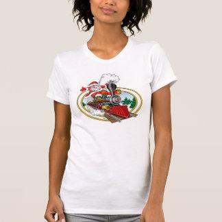 Santa Rides A Steam Locomotive Shirts