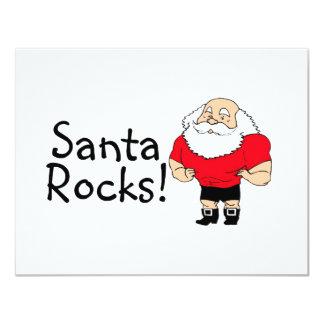 Santa Rocks 2 11 Cm X 14 Cm Invitation Card