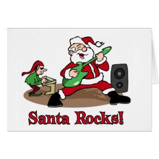 Santa Rocks card