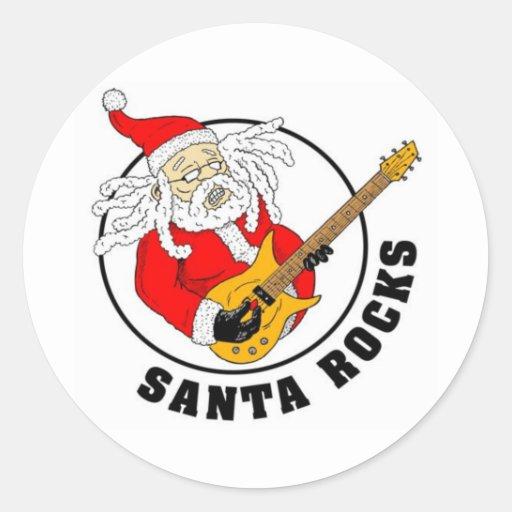 Santa Rocks Sticker