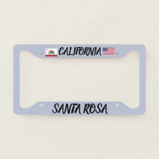 Santa Rosa California License Plate Frame