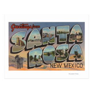 Santa Rosa, New Mexico - Large Letter Scenes Postcard