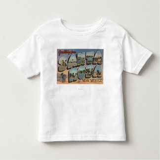 Santa Rosa, New Mexico - Large Letter Scenes Toddler T-Shirt
