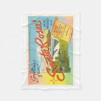 Santa Rosa New Mexico NM Vintage Travel Souvenir Fleece Blanket
