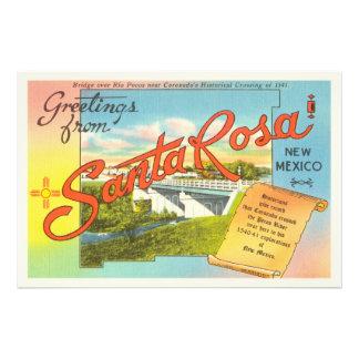 Santa Rosa New Mexico NM Vintage Travel Souvenir Photographic Print
