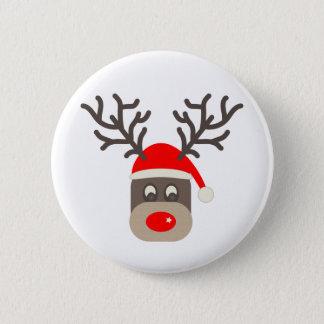Santa Rudolf 6 Cm Round Badge