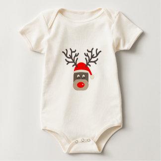 Santa Rudolf Baby Bodysuit