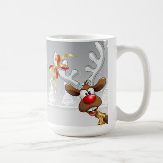 Santa & Rudolf Cartoon Mug