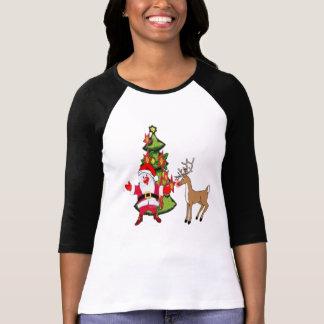 santa rudolph red nose reindeer Christmas design T Shirt