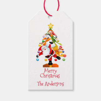 Santa, Rudolph, Snowman and Elf Gift Tags