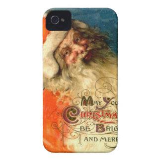 Santa s Christmas greetings iPhone 4 Cases