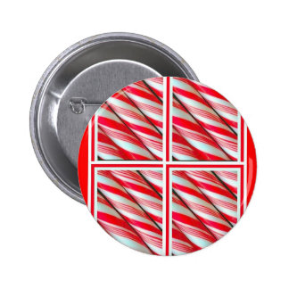 Santa s Christmas Peppermint Candy By Sharles Pinback Button