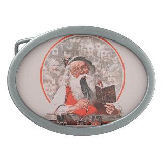 Santa s Expenses Belt Buckle