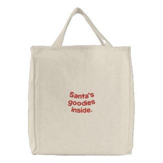 Santa s goodies inside bags