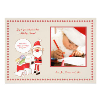 Santa s List Holiday Photo Card