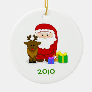 Santa s Nice List Ornament with Customizable Year