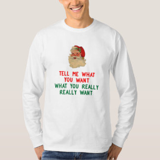 SANTA SAID, TELL ME WHAT YOU WANT, WHAT YOU REALLY T-SHIRT
