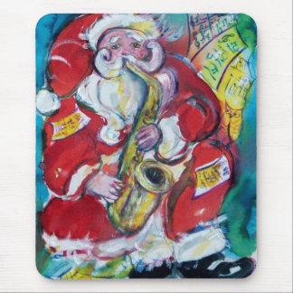 SANTA & SAX, CHRISTMAS PARTY MOUSEPAD