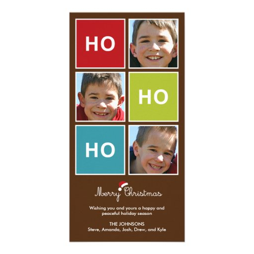 Santa Says - Christmas Photo Card Custom Photo Card