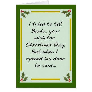 Santa Says - Go Away! Card