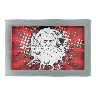 Santa says Merry Christmas Rectangular Belt Buckles