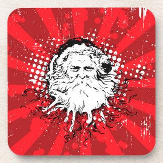 Santa says Merry Christmas Coasters