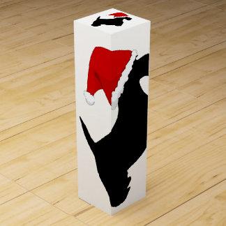 Santa Scottie Wine Gift Box