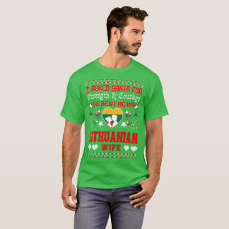 Santa Sent Lithuanian Wife Christmas Ugly Sweater