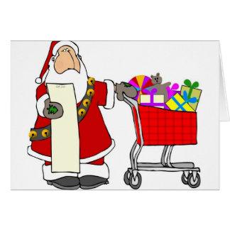 Santa Shopping Card