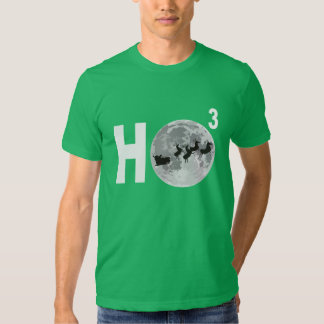 Santa Silhouette & Three HOs Tshirt