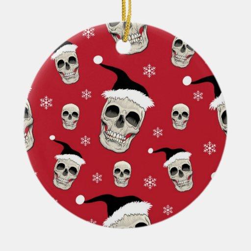 Santa Skelly (blood) Ornament