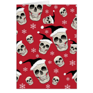 Santa Skelly Greetings Card
