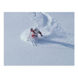Santa Skiing at Snowbird Ski Resort, Wasatch Postcard