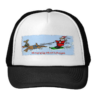 Santa Skiing Cap