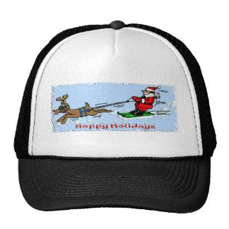 Santa Skiing Mesh Hat
