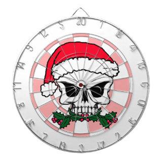Santa skull dartboard
