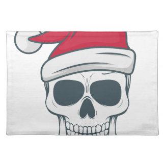 santa-skull placemat