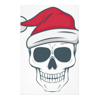 santa-skull stationery