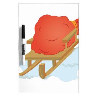 Santa Sled Dry Erase Board