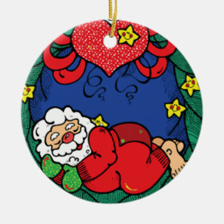 Santa sleeping ornament