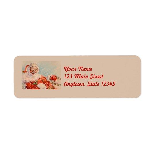 Santa Sleigh Ride Return Address Labels