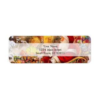 Santa sleigh - Santa claus illustration Return Address Label