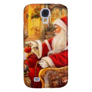 Santa sleigh - Santa claus illustration Samsung Galaxy S4 Cover