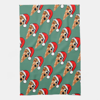 Santa Slice Tea Towel