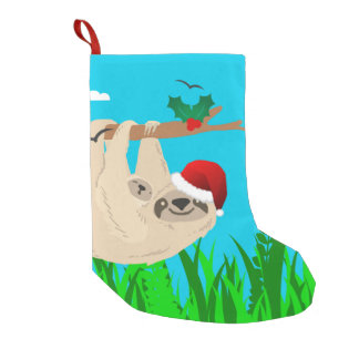 santa sloth xmas christmas stocking