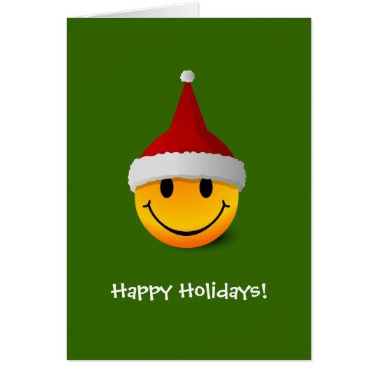 Santa Smiley Christmas card