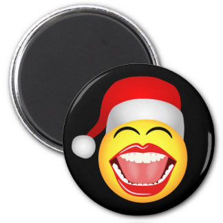 Santa Smiley Face Funny Christmas Fridge Magnet
