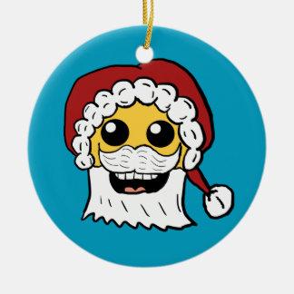 Santa Smiley Face ornament