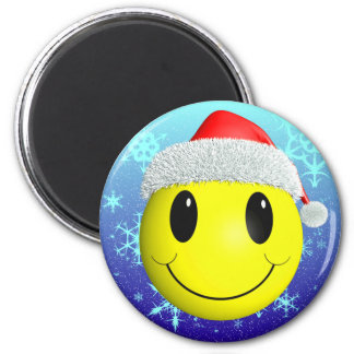 Santa Smiley Magnet