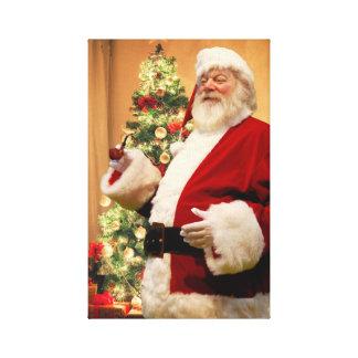 Santa smoking a pipe Canvas print